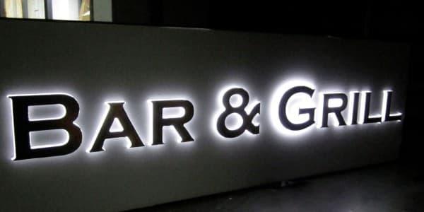 светящиеся объемные буквы любых размеров